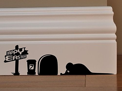 maus happy ostern eier minie loch home live kids funny art wand aufkleber aufkleber baseboard. Black Bedroom Furniture Sets. Home Design Ideas