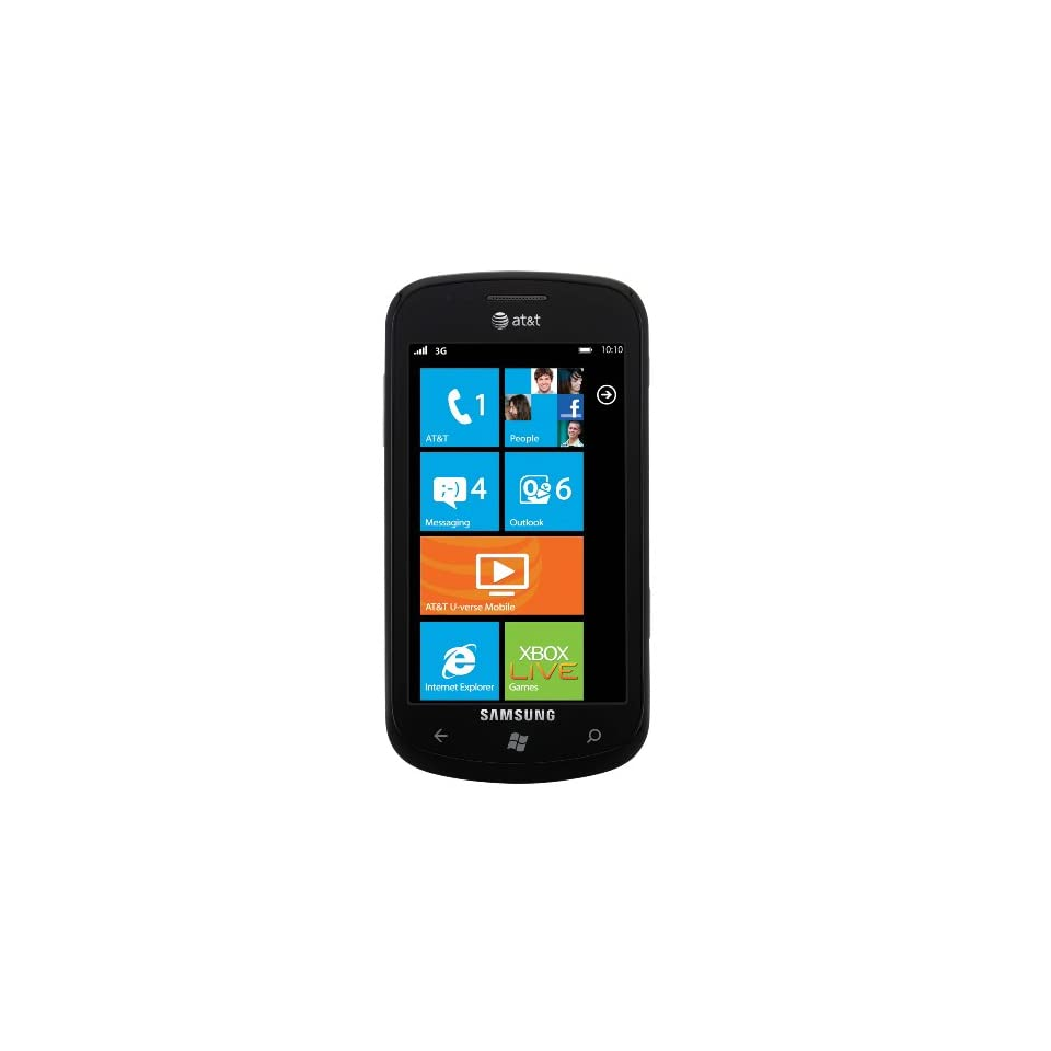 Samsung Focus I917 Unlocked GSM Phone with Windows 7 OS, 5 MP Camera, and Wi Fi   Black