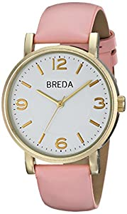 Breda Women's 2383C Watch with Pink Genuine Leather Band