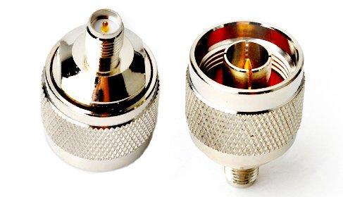 2Pcs Rf Coaxial Coax Adapter Rp-Sma Female To N Male