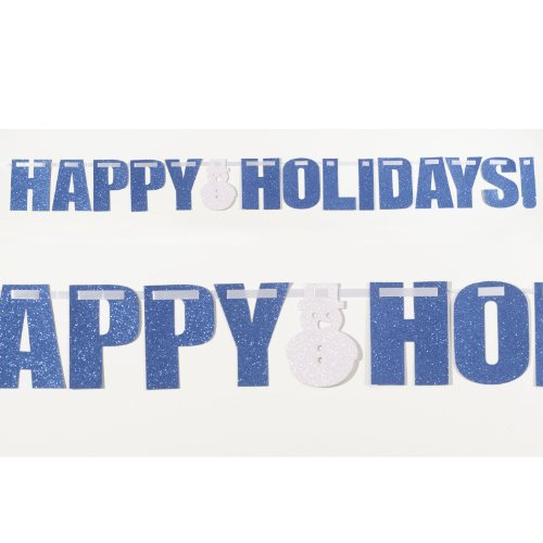 Happy Holidays - Glitter Banner Party Accessory - 1