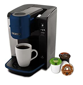 Mr. Coffee BVMC-KG6BL-001 Single Serve Coffee Brewer Powered by Keurig Brewing Technology, Blue