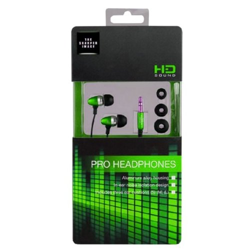 The Sharper Image Shp1103 Metal 3.5Mm Headset - Retail Packaging - Green