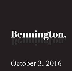 Bennington, October 3, 2016 Radio/TV Program