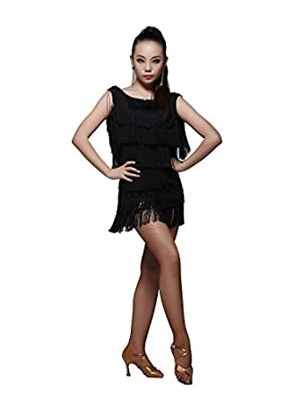 L9101 Women's Latin Rhythm Salsa Performance Show Dance Costume Dress