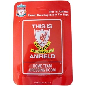 OFFICIAL LIVERPOOL FC MINI HOME DRESSING ROOM TIN SIGN 7.5″X6″