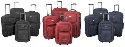 Kofferset aus Nylon 4 tlg. Reiseset Reisekoffer