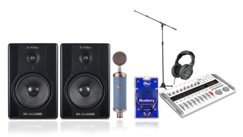 Tascam-Zoom home recording studio equipment package