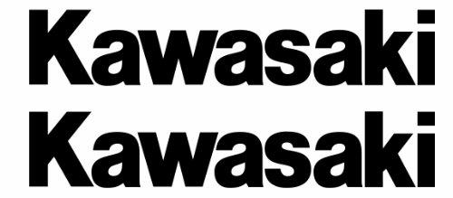 Kawasaki Logo Car Window Vinyl Decal Ipad Laptop Bumper Sticker Set of 2 (Color: Black)