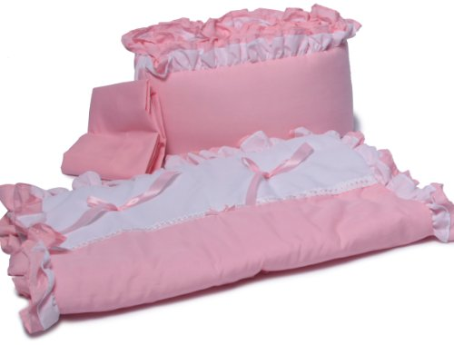 Baby Doll Bedding Regal Cradle Bedding Set, Pink