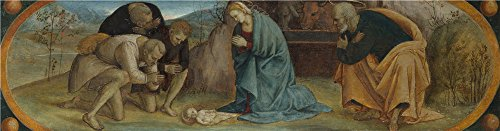 Oil Painting 'Luca Signorelli The Adoration Of The Shepherds (1) ' Printing On High Quality Polyster Canvas , 18 X 69 Inch / 46 X 175 Cm ,the Best Game Room Gallery Art And Home Gallery Art And Gifts Is This Vivid Art Decorative Prints On (Tween Sweet Bee Costume)