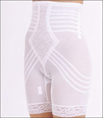 Rago Shapewear High-Waist Long Leg Pantie Girdle Style 6209 - White - Large