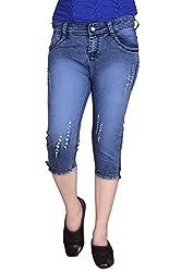 Queens Women's Slim Fit Capri(cap_tone__dx_Blue_28)