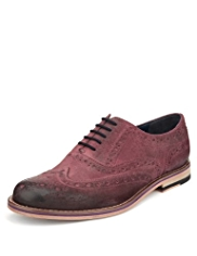 Autograph Suede Layered Brogue Shoes with Stain Resistant™