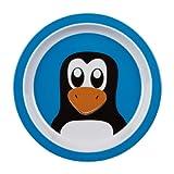 Plate Penguin Blue 16cm