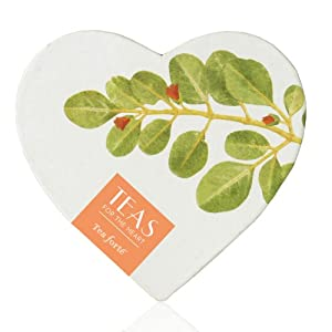 Tea Forte Teas for the Heart - Small Heart - Five Silken Pyramid Infusers