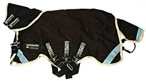 Rambo Duo Turnout Horse Blanket - Size:72 Color:Chocolate/Cream