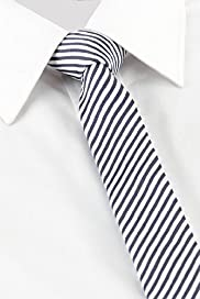 Autograph Textured Pinstriped Tie