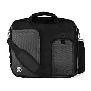 BLACK Pindar Durable Water-Resistant Nylon Protective Carrying Case Messenger Shoulder Bag For ASUS Zenbook 13.3-Inch Notebook Laptop Computer