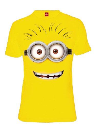 Cattivissimo Me - T-shirt con motivo faccia minion - Girocollo - Cotone - Giallo - L