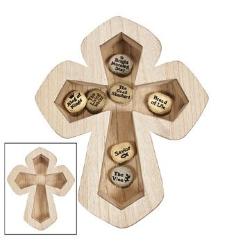 Wooden Cross Shaped Serving Tray - Easter and Religeous Serveware and Tabletop Displays