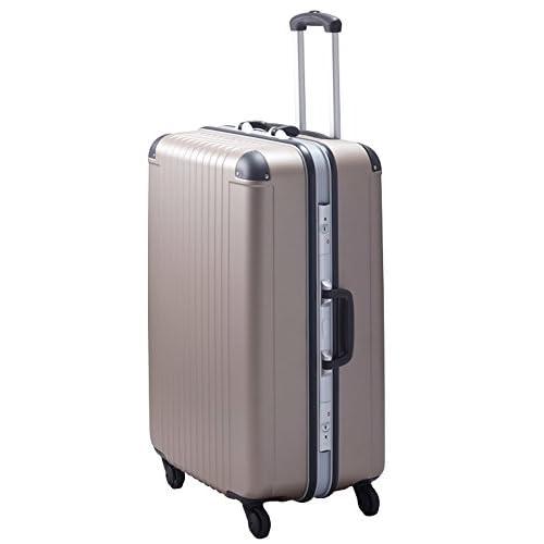 TSAロック コーナーパッド装備 スーツケース キャリーバッグ エキスパートTG2ハードキャリー・M (カプチーノ)