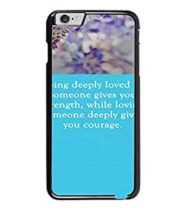 PrintDhaba Quote D-3719 Back Case Cover for APPLE IPHONE 6 (Multi-Coloured)