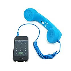 Coco Phone Retro Mobile Handset (3.5mm) For iPhone 5/5c/5s/4/4s/HTC/Samsung/Nokia/Blackberry/Sony/LG -Blue