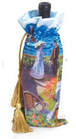 Pack of 6 Monet Art Wine Bottle Gift Bags - Garden at Sainte-Adresse