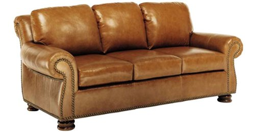 """Cohen """"Designer Style"""" Old World Reproduction Leather Furniture Collection: Cohen """"Designer Style"""" Old World Reproduction Leather Loveseat"""