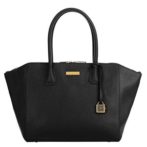 joy-iman-genuine-leather-best-friend-city-womens-satchel-with-watch-black