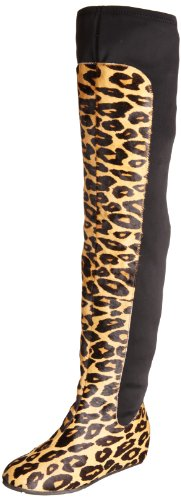 United Nude Women's Scuba Leather Leopard Pull On Boots 818761153634 5 UK