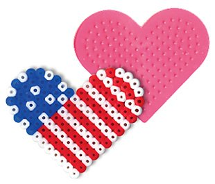 Small Heart Pegboard for Perler Fuse Beads