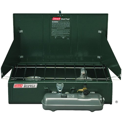 "Coleman Guide Series Powerhouse Dual Fuel Stove,Green,7.9"" H x 17"" W x 24.3"" L"