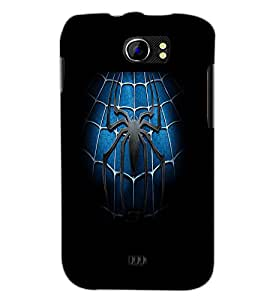 PrintDhaba Spider D-2141 Back Case Cover for MICROMAX A110 CANVAS 2 (Multi-Coloured)