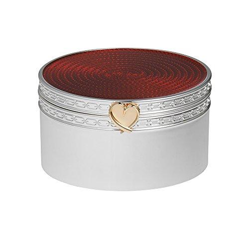 Wedgwood di Vera Wang, placcata argento, con confezione regalo, colore: rosso cuore Treasures