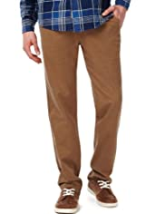North Coast Pure Cotton Slim Fit Straight Leg Chinos [T17-1751N-S]