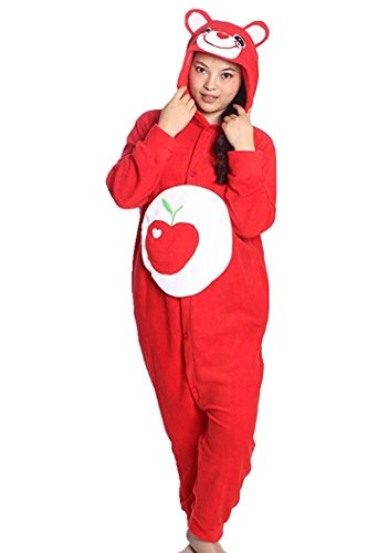 [The ShielD? Animal Cosplay Costume Unisex Adult Pajamas Apple BearX-Large] (Costume Rental Jakarta)