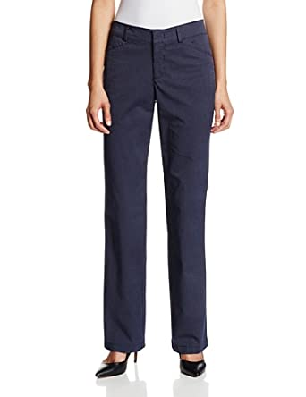 Dockers Women's The Khaki Pant with Hello Smooth, Ida Stripe Nightwater, 4