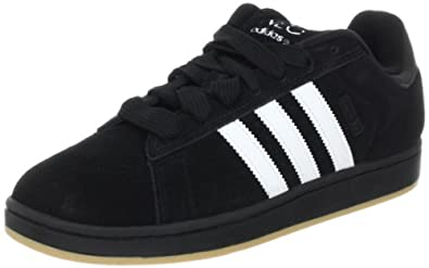 adidas Men's Campus SK Lace-Up Fashion Sneaker,Black/White/Gum,9.5 M US