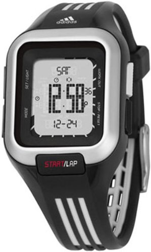 Adidas Women's ADP3024 Black Resin Quartz Watch with Digital Dial