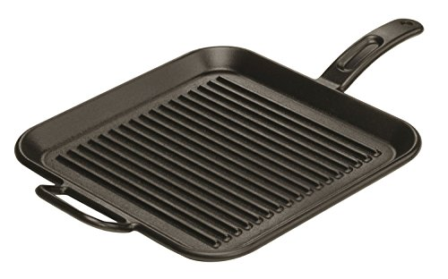 Premium 12 Inch Cast Iron Skillet Square Grill Pan with a Meat Tenderizer Combo (Lodge Griddle For Gas Stove compare prices)