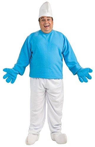 Mens Plus Size Deluxe Smurf Halloween Costume