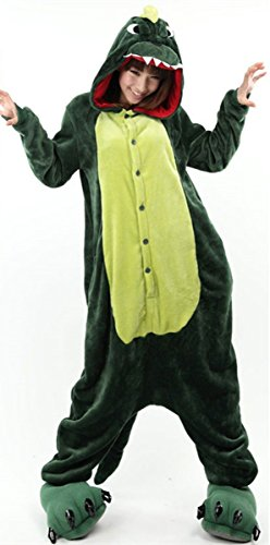 Ninimour- Pajamas Cosplay Halloween Costume-Green Dinosaur