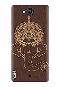 Noise Designer Printed Case / Cover for Lyf Wind 4 / Festivals & Occasions / Wooden Ganpati Face Design