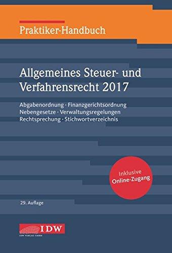 praktiker-handbuch-allgemeines-steuer-und-verfahrensrecht-2017-abgabenordnung-finanzgerichtsordnung-