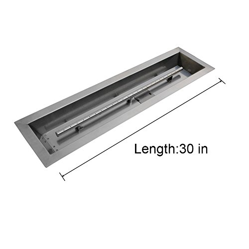 Stanbroil Stainless Steel Linear Trough Drop-In Fire Pit Pan and Burner 30 by 6-Inch (Propane Fire Pan compare prices)