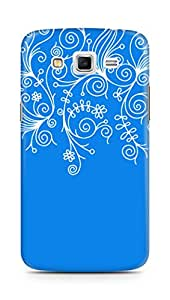 AMEZ designer printed 3d premium high quality back case cover for Samsung Galaxy Grand 2 (bright blue white design pattern abstract)