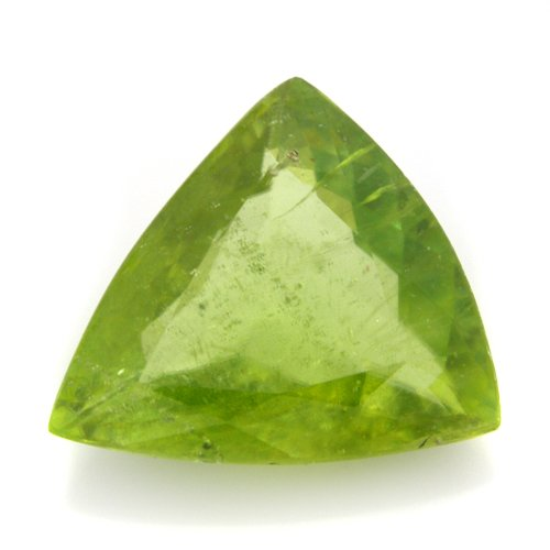 Natural Green Sphene Loose Gemstone Trillion Cut 2.95cts 11*10mm Amazing I Grade