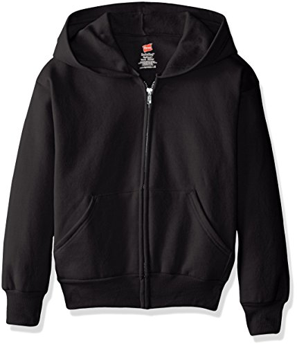 hanes-big-boys-eco-smart-fleece-zip-hood-black-x-large